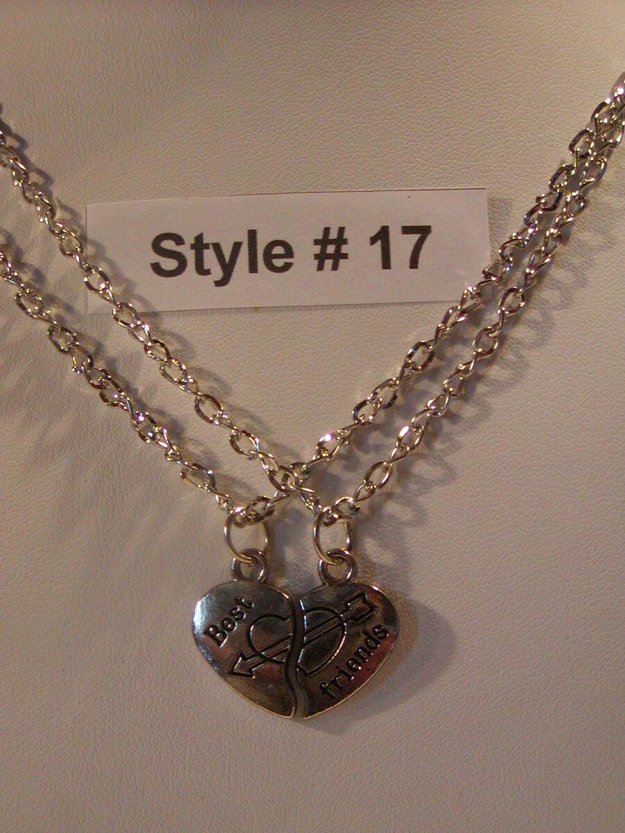 Necklace Set Rhodium Plated Love Friendship Best Friends NEW