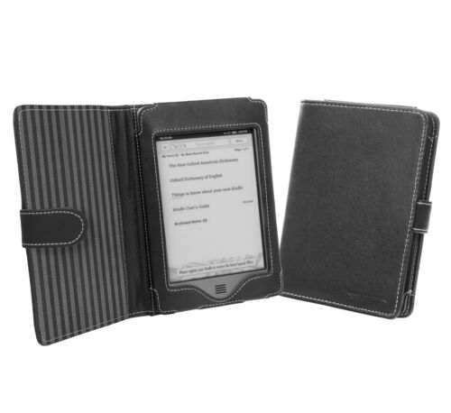Cover-Up Amazon Kindle Touch (Wi-Fi / 3G) Nappa Leather Book Style Case - Black in Books, Accessories, Book Covers | eBay