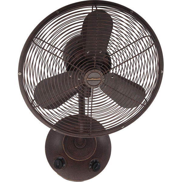 Wall Mount Outdoor Rated Fans : Craftmade quot bellows i aged bronze wall mount speed