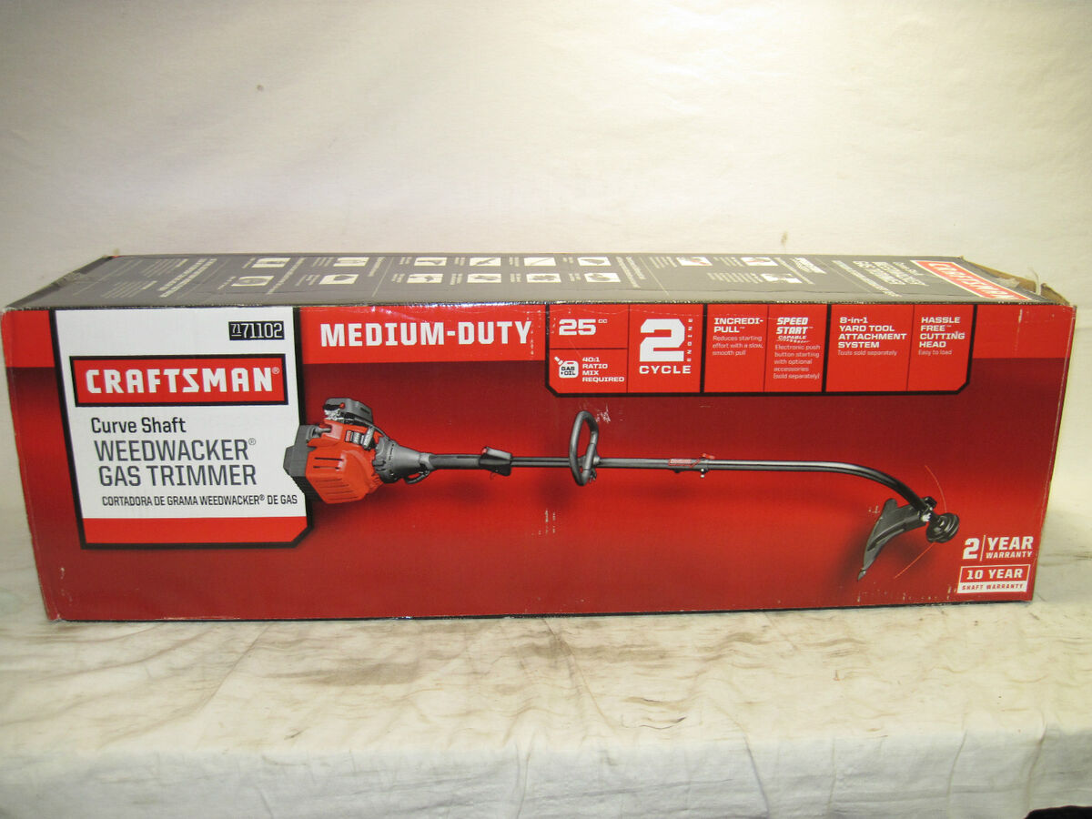 Craftsman WeedWacker Weed Eater Gas Trimmer 25cc 2 Cycle Curved