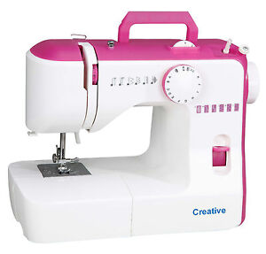 Creative-588-Electric-Sewing-Machine-PINK-12-Stitches-4-Step-Buttonhole