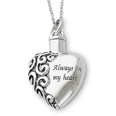 Cremation Heart Urn Necklace Jewelry Always in my Heart Engraveable new in Everything Else, Funeral & Cemetery, Cremation Urns | eBay