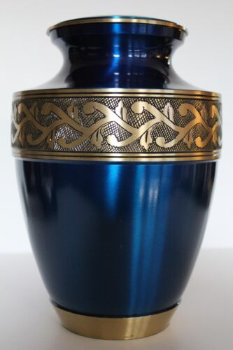 Cremation urn, funeral urn, brass adult blue ash urn, new - 220 LBS in Everything Else, Funeral & Cemetery, Cremation Urns | eBay