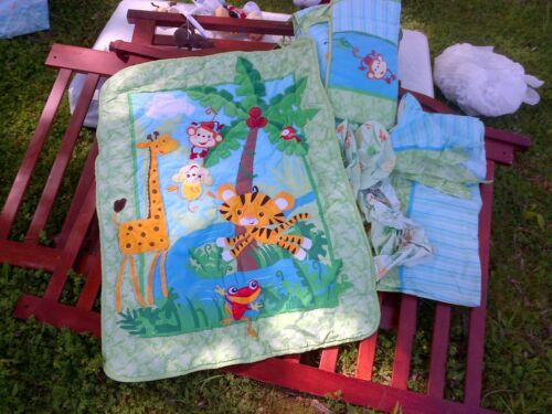 Crib bedding set, Fisher Price Jungle theme in Baby, Nursery Bedding, Crib Bedding | eBay