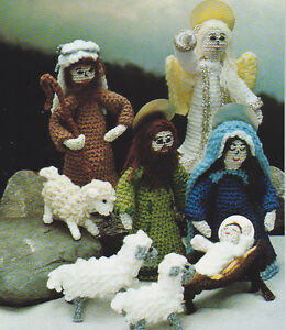 Crochet Christmas Pattern NATIVITY SCENE Creche Instructions eBay