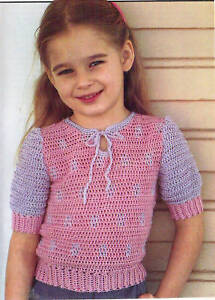 GIRL SWEATER FREE CROCHET PATTERN « CROCHET FREE PATTERNS