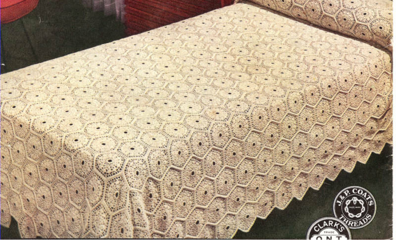 Spangled Tablecloth - Free Crochet Tablecloth Pattern