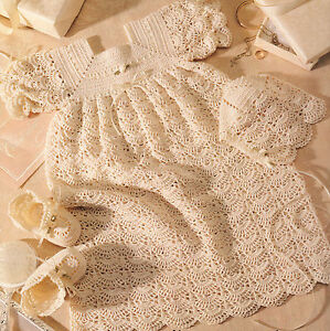 THREAD CROCHET CHRISTENING GOWN PATTERNS - Crochet
