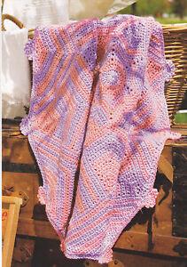 Free Crochet Pattern 80427AD Basically Striped Afghan