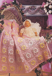 Boy-Friendly Gingham Check Baby Afghan -- Free Crochet Pattern