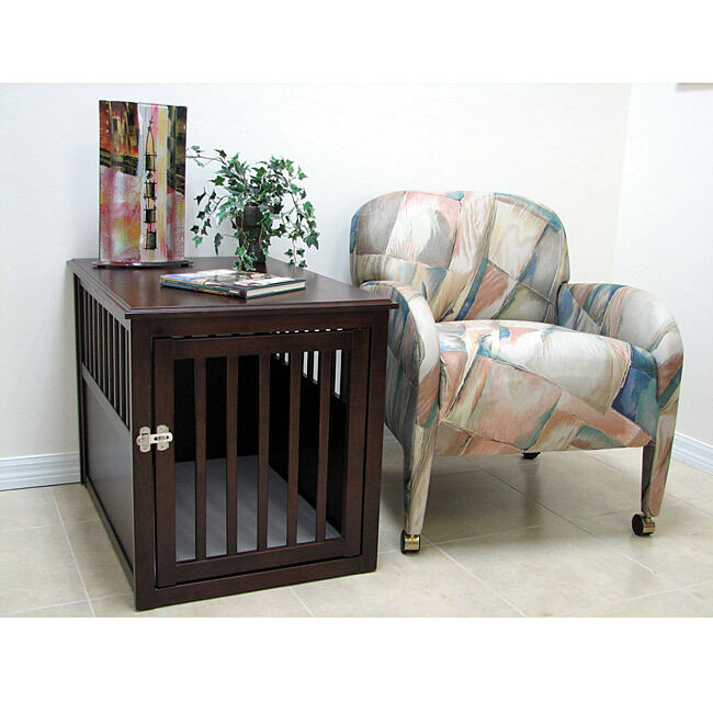 Details About Crown Dog Bed Crate Furniture Table EXPRESSO LARGE