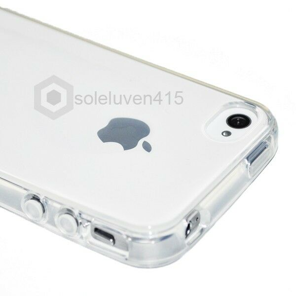Crystal Clear Silicon TPU Soft Full Cover Case For Apple iPhone 4 4S 4G New