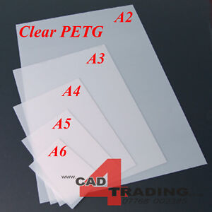 Crystal clear thin petg dolls house glazing plastic art for Clear plastic sheets for crafts