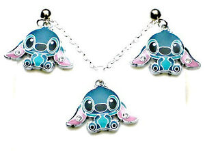 stitch necklace stud earrings gift box set lilo and