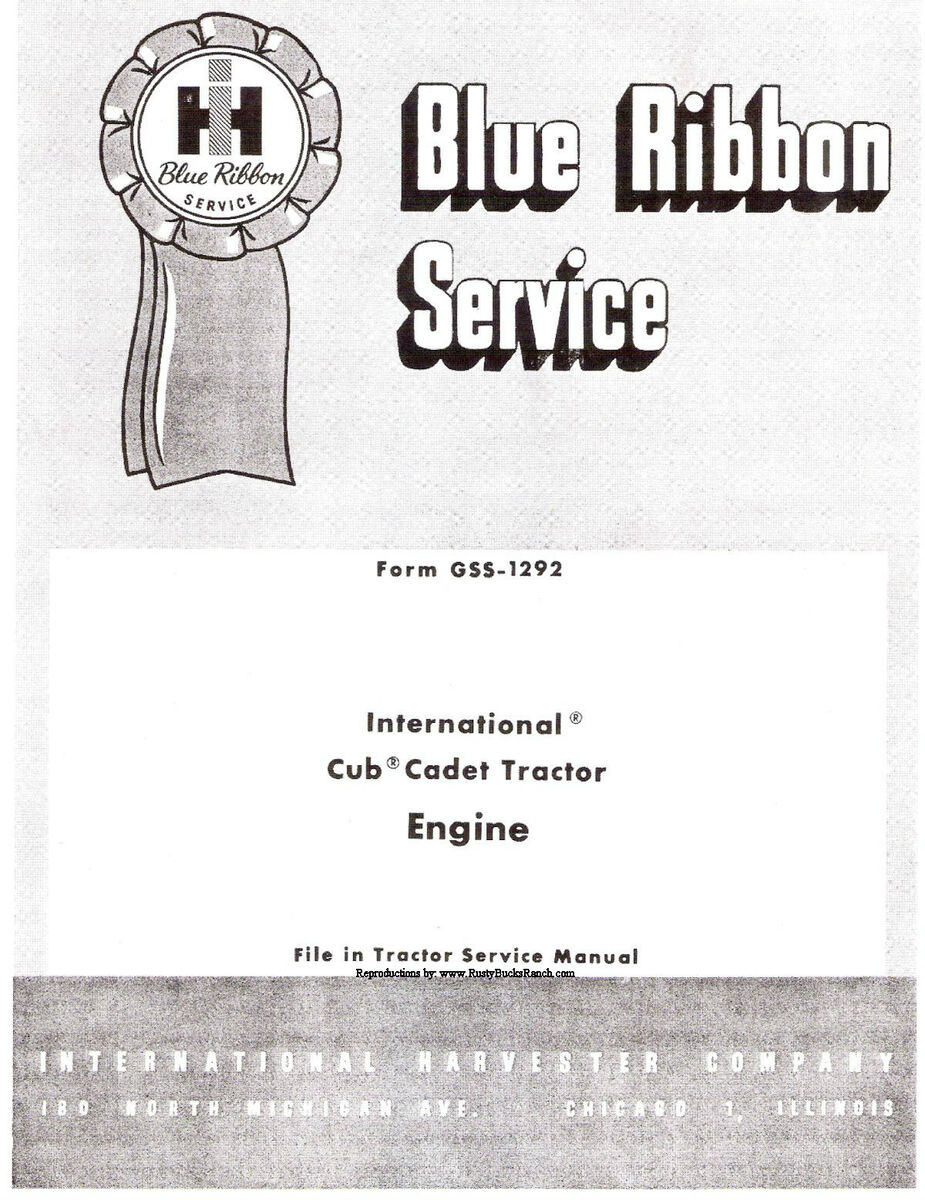 Cub Cadet Lawn and Garden Tractor Kohler K161S and K161T Engine Service Manual