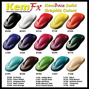 Custom Basecoat Clearcoat Motorcycle Paint Kit 15 Popular Colors To Choose Ebay