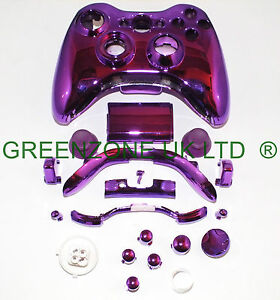 Custom Chrome Purple Ful l Shell, Parts For Xbox 360 ...