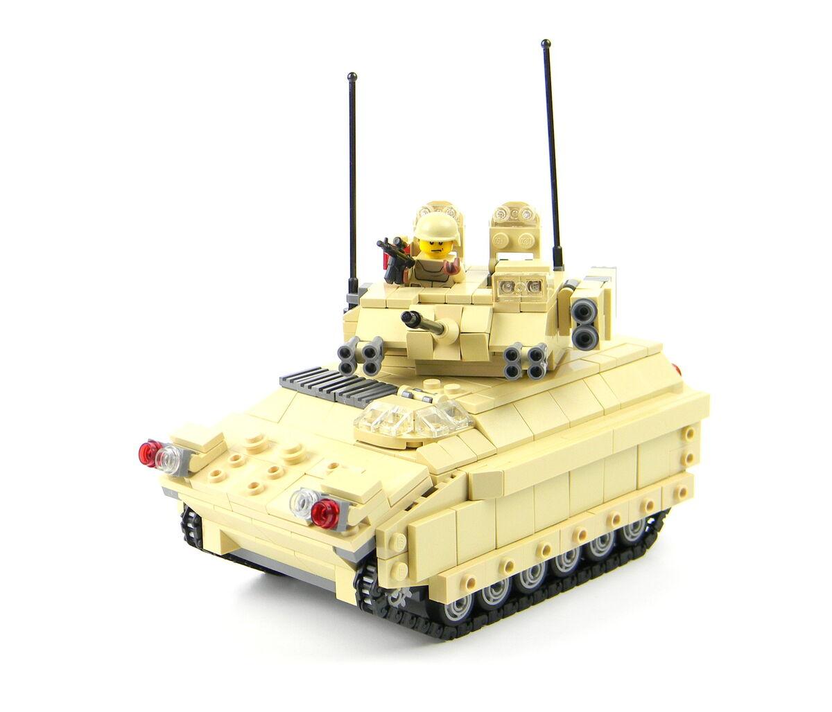 Custom LEGO army tank Bradley fighting vehicle main battle tankLego Army Tank
