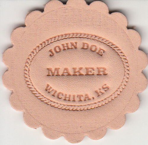 Custom Makers Stamp for leather embossing / clicker and hammer delrin stamp in Crafts, Home Arts & Crafts, Leathercraft | eBay