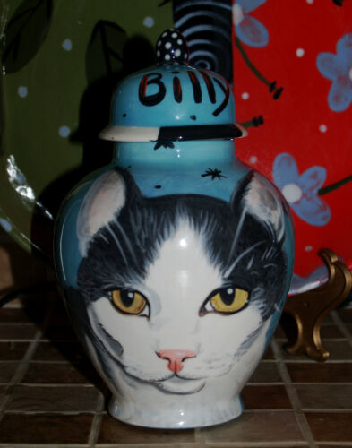 Custom Pet urn portrait for ashes Cat cremation urn domestic any cat memorial in Everything Else, Funeral & Cemetery, Cremation Urns | eBay