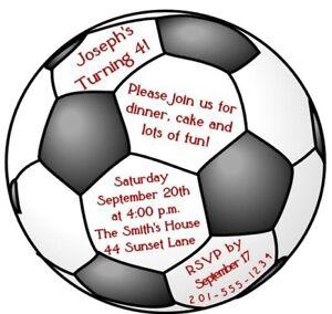 Custom Soccer Ball Birthday Party Invitation | eBay