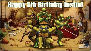 Ninja Birthday Party Supplies on Teenage Mutant Ninja Turtles Birthday Party Banner Decorations   Ebay