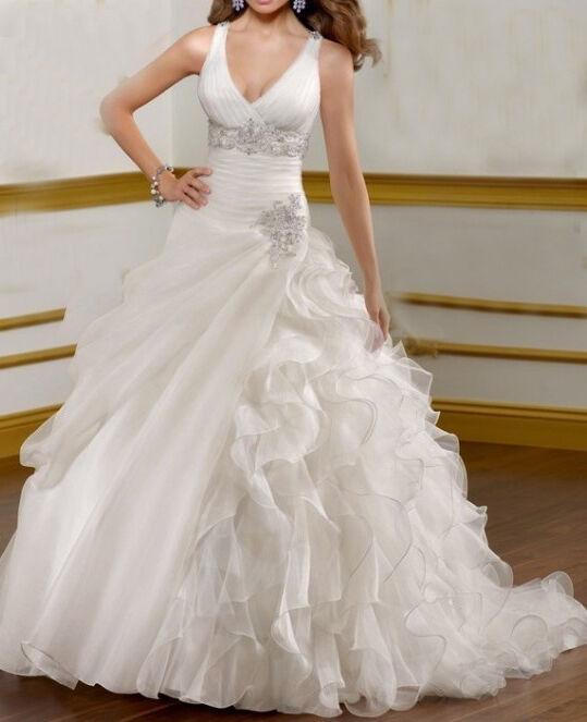 White Ivory Custom Wedding Dress Bridal Gown Deb Plus Sizeampcolour