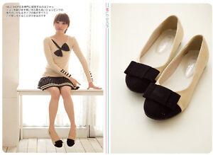 Cute Bowknot Ballet Flats Shoes Girls Womens Japanese Korean Fashion Style New Ebay