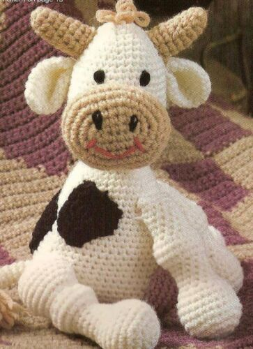 Crochet Pattern Cute Cow Toy Teddy Ebay