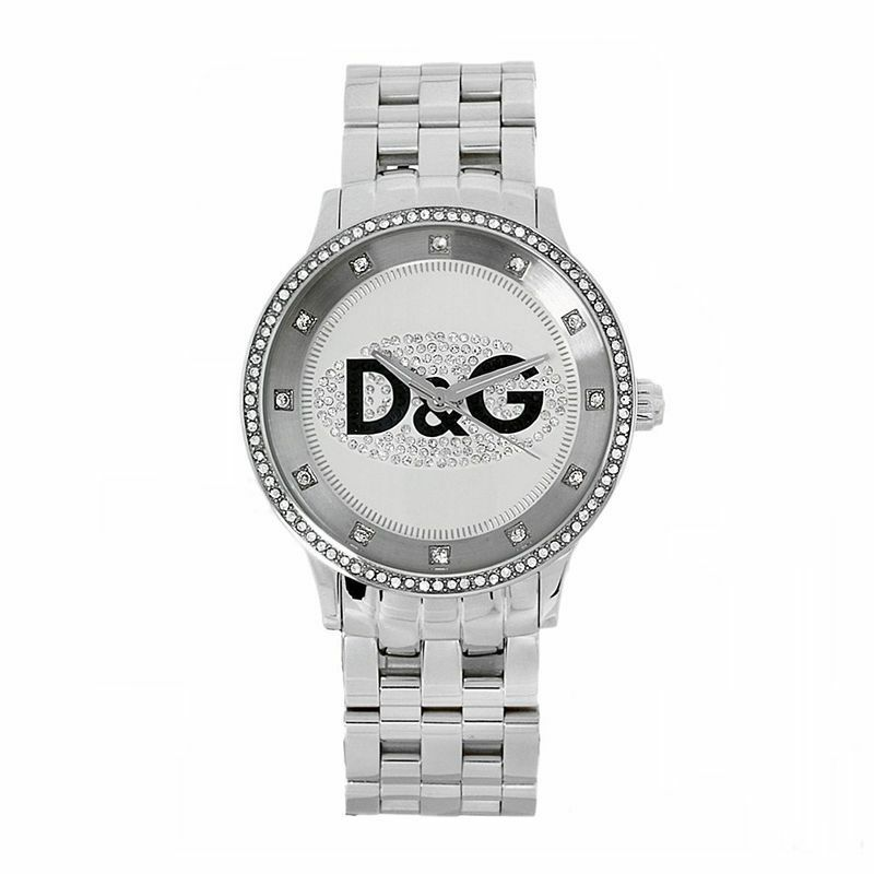 D&G Dolce & Gabbana Men's Prime Time Stone Dial & Bezel Stainless Steel Watch