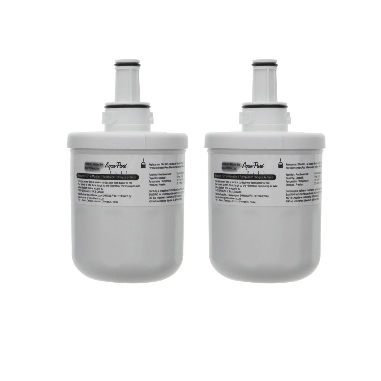 da29 00003g da29 00003f samsung aqua pure plus refrigerator water filter 2 pack ebay. Black Bedroom Furniture Sets. Home Design Ideas