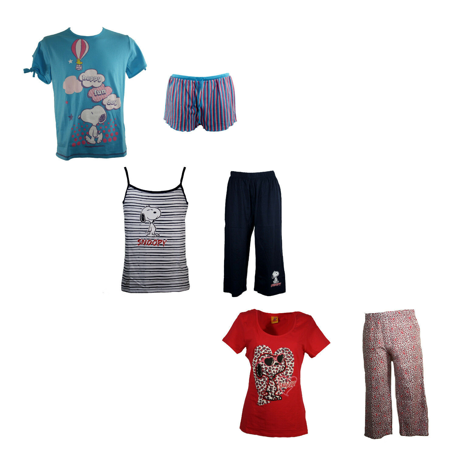 damen snoopy tweety betty boop schlafanzug pyjama. Black Bedroom Furniture Sets. Home Design Ideas