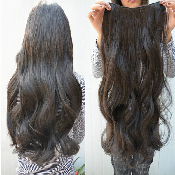 Gray Ponytail Extension 95