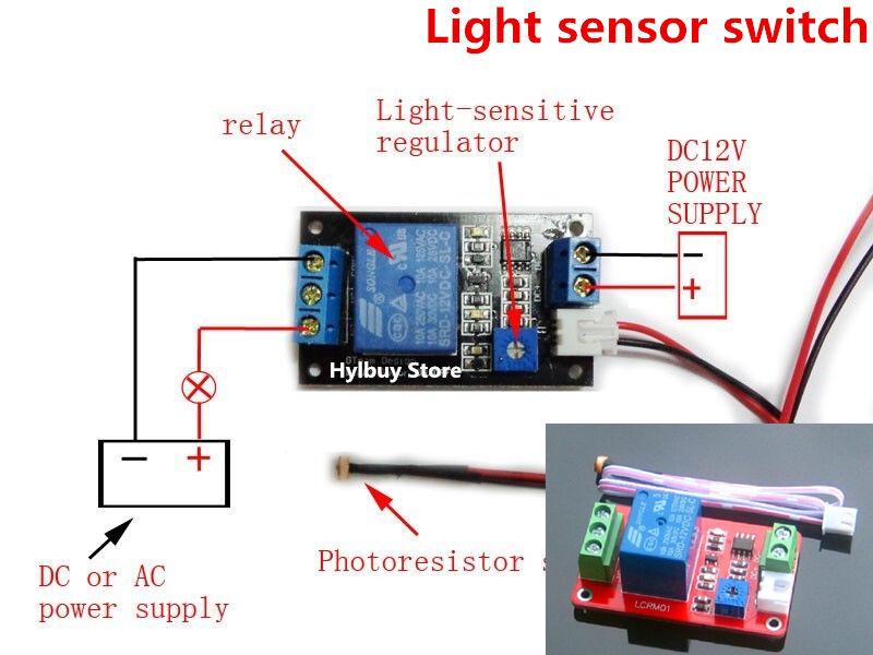 dc 12v adjustable light sensor switch photoresistor. Black Bedroom Furniture Sets. Home Design Ideas