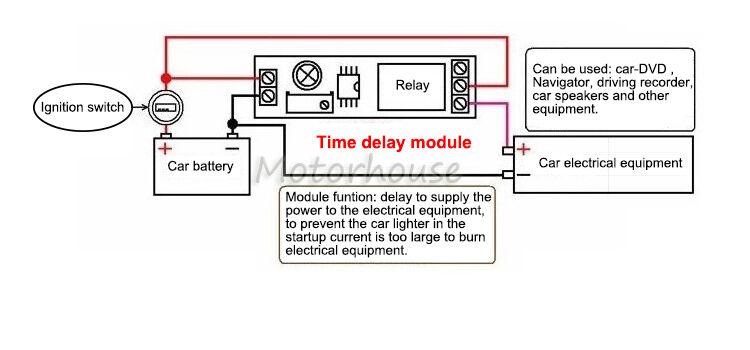 dc 5v 12v 24v trigger delay time turn on switch timer 12v trigger relay wiring #13