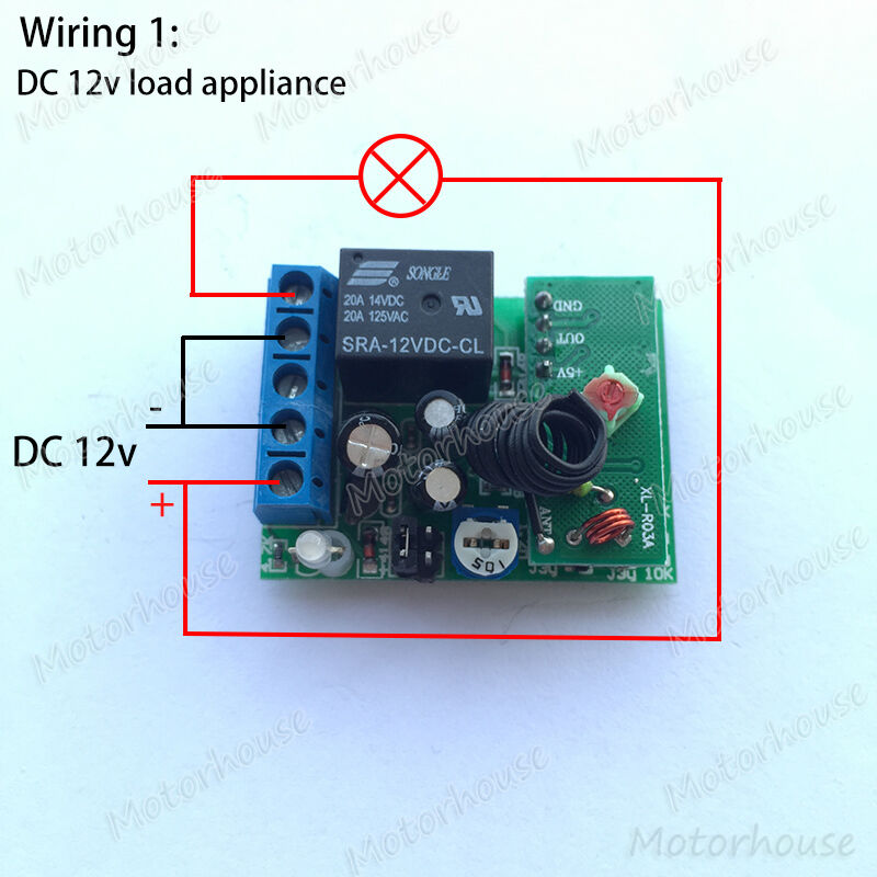 Dc 12v Wireless Remote Control Relay Switch Delay Turn On