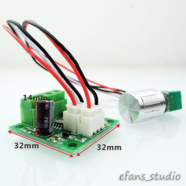 Dc 3v 6v 9v 12v 2a low voltage pwm dc motor speed for Small dc motor controller