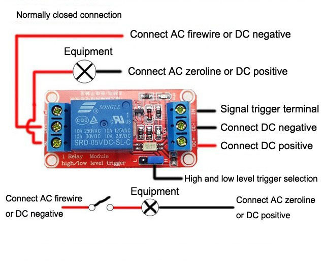 5v 12v 24v 1 Channel H L Level Relay Module With
