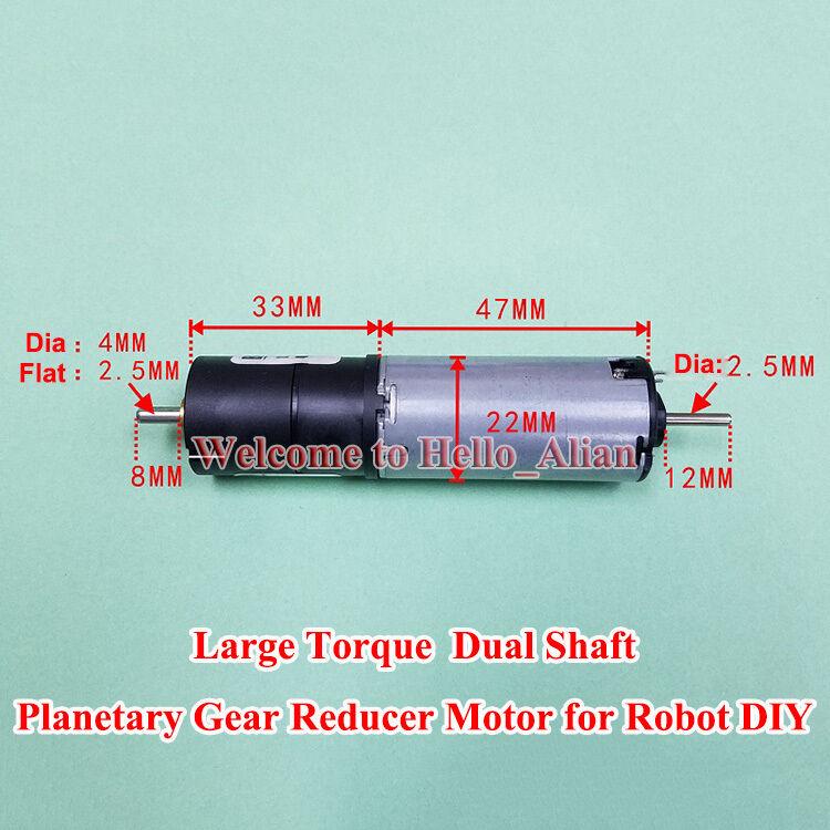 DC12V 60RPM Planetary Gearbox Gear Motor Large Torque Bühler Motor for Robot DIY