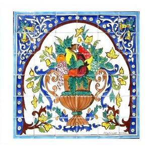 decorative ceramic tiles mosaic panel hand painted kitchen wall tile