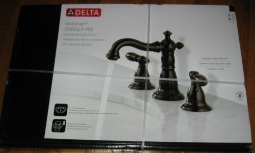 DELTA Victorian Venetian Bronze 2 Handle Widespread Bathroom Lavatory Faucet NEW in Home & Garden, Home Improvement, Plumbing & Fixtures | eBay