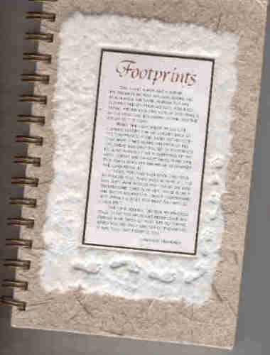 DELUXE HANDMADE PAPER DESIGNER JOURNAL - FOOTPRINTS in Books, Accessories, Blank Diaries & Journals | eBay