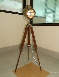 designer hand made rustic nautical spot light floor lamp. Black Bedroom Furniture Sets. Home Design Ideas