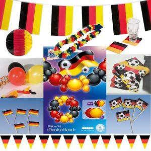deutschland deko fussball party deko schwarz rot gelb. Black Bedroom Furniture Sets. Home Design Ideas