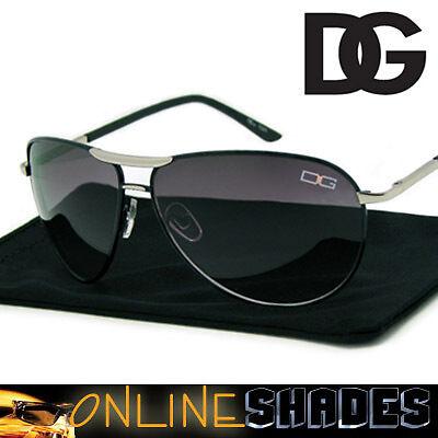 DG 7225 BLACK - Designer Aviator Sunglasses Classic Retro Eyewear Silver Metal in Clothing, Shoes & Accessories, Men's Accessories, Sunglasses | eBay