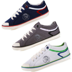 diesel herren schuhe sneaker dunkelgrau wei navy schwarz chucks slipper neu ebay. Black Bedroom Furniture Sets. Home Design Ideas
