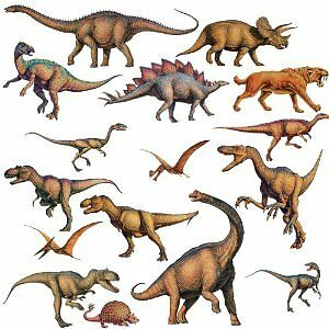 DINOSAURS 16 BiG Wall Stickers Jurassic Room Decor Decals T-REX Triceratops RM1 in Home & Garden, Home Decor, Decals, Stickers & Vinyl Art | eBay
