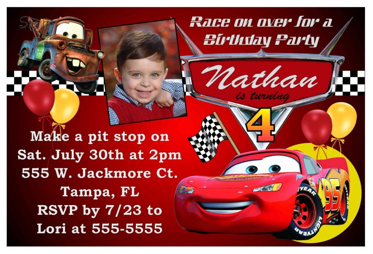 5th Birthday Ideas: Birthday Invitation Templates Cars
