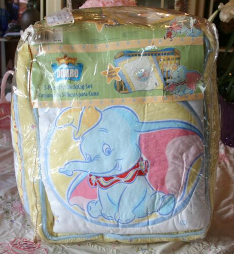 DISNEY DUMBO 3 PIECE CRIB BEDDING SET W/ BONUS PILLOW NEW IN PLASTIC in Baby, Nursery Bedding, Crib Bedding | eBay