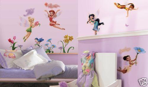 Disney Fairies Wall Stickers 23 Big Decals Room Decor